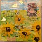 Mixed Media Acrylic Class of Sunflowers, Cherry Blossoms or Poppies